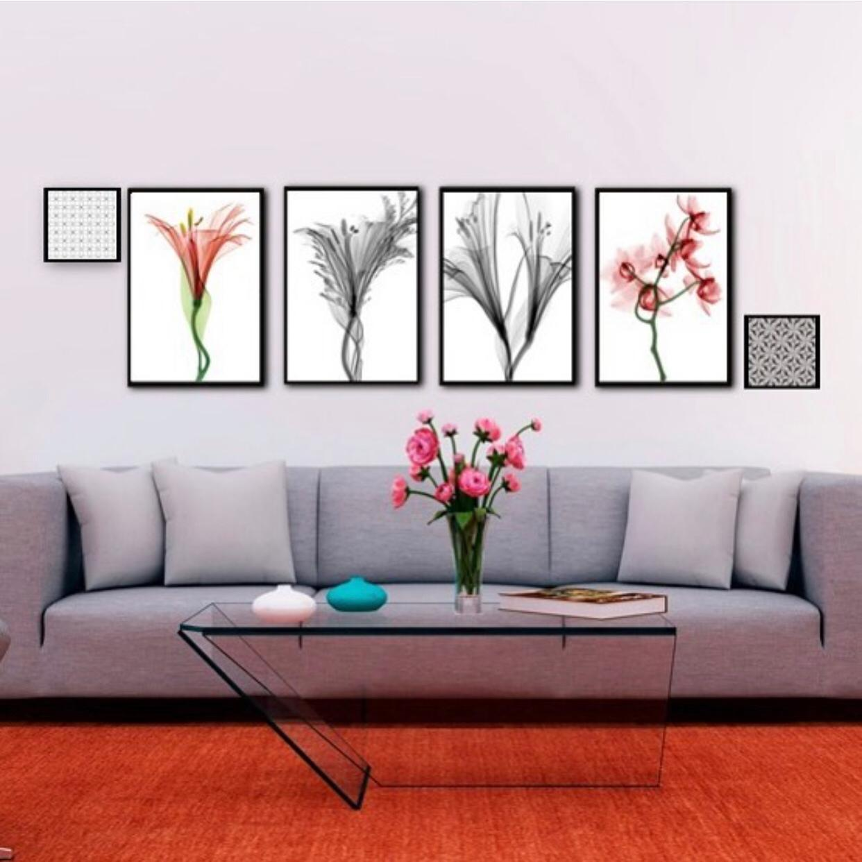 Conjunto de 6 Quadros Floral