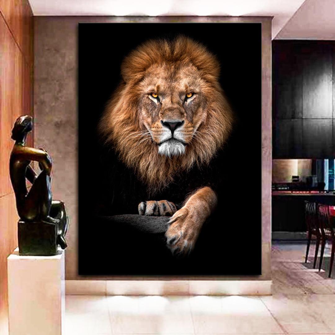 Quadro Decorativo para Sala Lion King - Mundo Animal