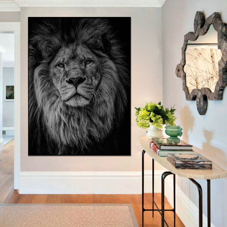 Tela Inteira Decorativa Leão III para Sala - Mundo Animal