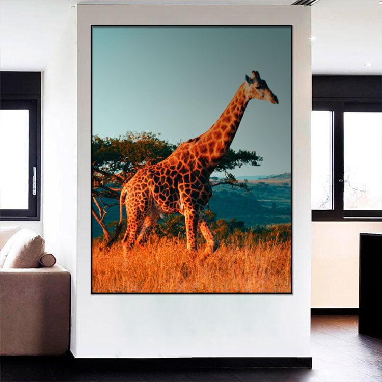Tela Inteira Decorativa para Sala Girafa I - Mundo Animal