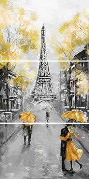 Tela Canvas Paris - 3 Peças