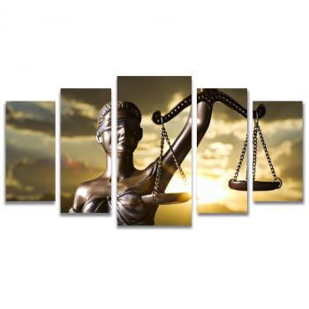 Quadro Canvas Deusa da Justiça para Escritório Advocacia 5 Telas