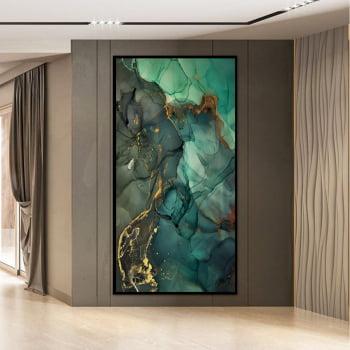 Tela em Canvas Abstrato Turmalina Verde - Quadros Gigantes -
