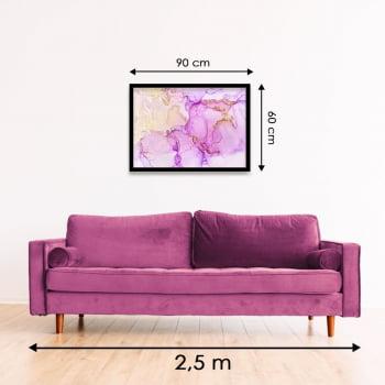 Quadro Decorativo Abstrato Ametista Rosa - Linha Prime