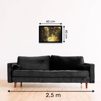 Quadro Decorativo Abstrato Nácar dourado - Linha Prime   -