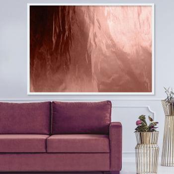Quadro Decorativo para Sala Bronze Degradê - Rose Gold