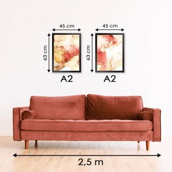 Conjunto de 2 Quadros Decorativos para Sala Citrino - Linha Prime