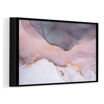 Quadro Decorativo para Quarto Casal Abstrato Rosa Crepe - Rose Gold