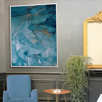 Quadro Decorativo para Sala Abstrato Azul I - Linha Prime
