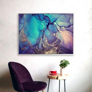 Quadro Decorativo para Sala Abstrato Índigo - Linha Prime