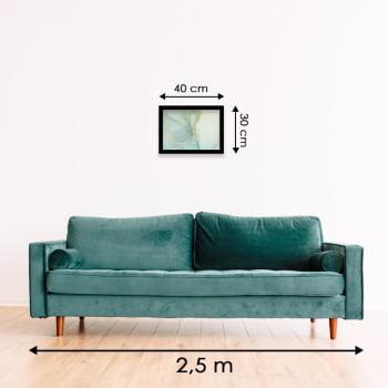 Quadro Decorativo para Sala Abstrato Verde Claro - Linha Prime