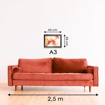 Quadro Decorativo para Sala Citrino - Linha Prime