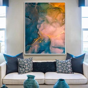 Quadro Decorativo para Sala de Estar Abstrato Aquarela - Linha Prime