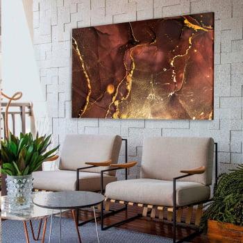 Quadro Decorativo para Sala de Estar Abstrato Vermelho Marte - Linha Prime