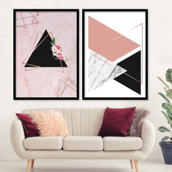 Conjunto de 2 Quadros Decorativos para Sala Geométricos Dream - Geométricos