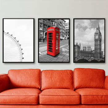 Conjunto de Quadros Decorativos de London