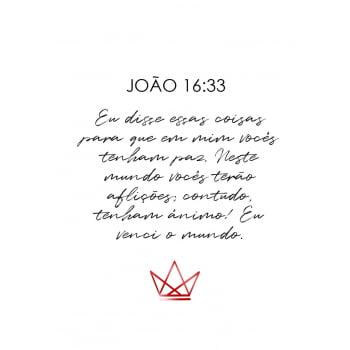 Conjunto de 3 Quadros para Quarto Salmos, Coríntios e João - Religiosos