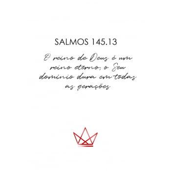 Conjunto de 3 Quadros para Sala Salmos, Apocalipse e Galatas - Religiosos