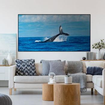 Tela Inteira Decorativa para Sala Baleia II - Mundo Animal