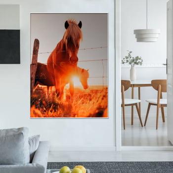 Tela Inteira Decorativa para Sala Cavalo I - Mundo Animal