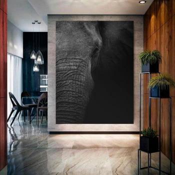 Tela Inteira Decorativa para Sala de Jantar Elefante I - Mundo Animal