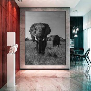 Tela Inteira Decorativa para Sala de Jantar Elefante II - Mundo Animal