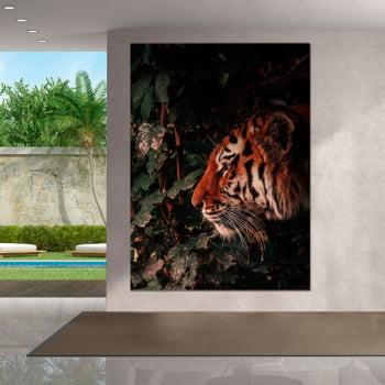 Tela Inteira Decorativa para Sala Tigre II - Mundo Animal