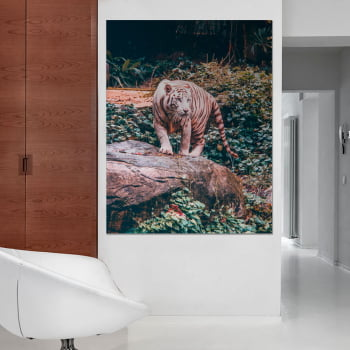 Tela Inteira Decorativa Tigre III para Quarto - Mundo Animal