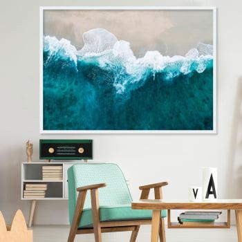 Quadro Decorativo para Sala Praia Wave II - Paisagens