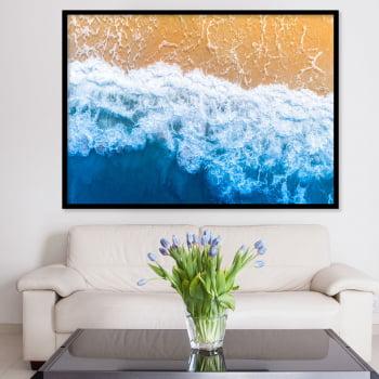 Quadro Decorativo para Sala Praia Wave III - Paisagens