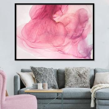 Quadro Decorativo para Sala Rosa Rouge - Rose Gold