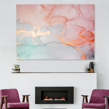 Quadro Decorativo para Sala Rosé Quartz - Rose Gold